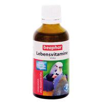 Beaphar - Lebensvitamine Vinka-50ml-Vitamine Sittiche Papagei Vogel Vögel Exoten