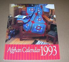 NEEDLECRAFT SHOP 1993 CALENDAR CROCHET PATTERN LEAFLET AN AFGHAN FOR EACH MONTH