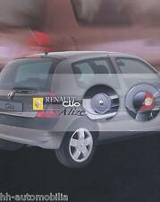 Renault Clio Alizé Prospekt 7/01 span brochure 2001 Auto PKWs Autoprospekt