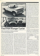 1980 Ford F100 Ranger Lariat-  Classic Article D23