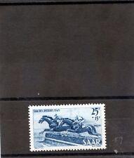 Saar Sc B68(Yt 254)*Vf Nh 1949 25F+15F Blue $55