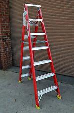 Dual Purpose Double side 8' 8 ft foot Fibreglass Step Ladder 2.45M / 4.55M 150KG