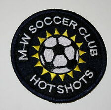 Local Soccer M-W Hot Shots New Jersey Iron On Patch New