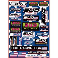 PLANCHE STICKERS BUD RACING USA 65 85 125 250 300 450 SX SXF EXC EXCF