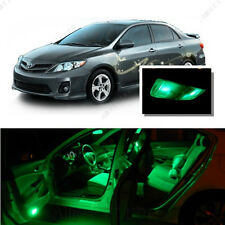 For Toyota Corolla 2003-2013 Green LED Interior Kit + Green License Light LED