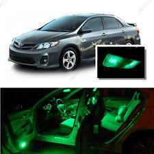 For Toyota Corolla 2003-2013 Green LED Interior Kit + Green License Light LED