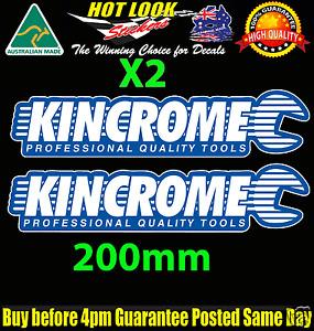 Kincrome Tools 2 colour Sticker Decal Suit JDM Hoon Spanner Socket Set Tool Box