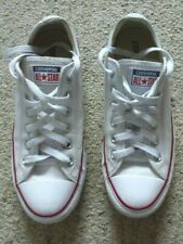 CONVERSE All Star white low-top leather shoes..women's 8..EU39 (men's 6)