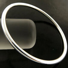 BANGLE BRACELET GENUINE REAL 925 STERLING SILVER S/F SOLID GOLF CUFF DESIGN 60mm