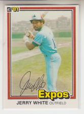 Autographed 1981 Donruss Jerry White - Expos