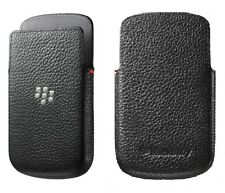 Genuine Blackberry Black Leather Pocket Case for Q10
