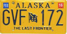 Alaska License Plate,  Original Kennzeichen  USA   GVF 172  ORIGINALSCAN
