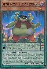 YU-GI-OH CARD SUPER RARE: ABYSS ACTOR - FUNKY COMEDIAN - DESO-EN017 1ST EDITION