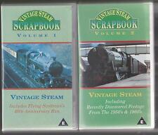 Vintage Steam ScrapBook (VHS) Volumes 1 & 2 ~ 2 VHS Railway Video tapes