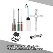 Nitro Starter Glow Plug Igniter Charger Tools Fuel Bottle Combo P4T9