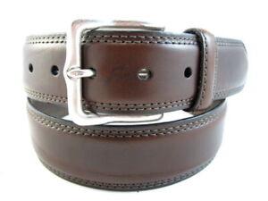 """NEW Allen Edmonds """"WIDE STREET"""" Dress Belt  #1015602  Size 34  Brown  USA (532)"""