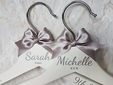 Personalised Wedding Dress Hangers, Bridal / Bridesmaid Gift / White / Wooden