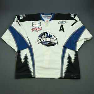 2007-08 Blake Forsyth Idaho Steelheads Game Used Worn ECHL Hockey Jersey MeiGray