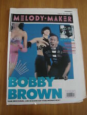 MELODY MAKER 1989 JUNE 10 BOBBY BROWN DE LA SOUL DAVID BOWIE PET SHOP BOYS