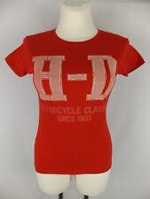 HARLEY DAVIDSON T-Shirt - XS 34 - neu - rot - cooler Print