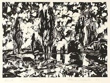 KLAUS DRECHSLER - AM WASSER - Linolschnitt 1970