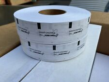 Lot Of 2 Rolls Turn-O-Matic T90 White 3 Digit Take a Number Tickets New