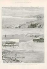 1891-antica stampa Sud America CILE Coronel rovesciare balmaceda (109)