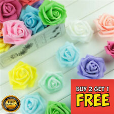 6cm FOAM ROSES-pack of 50/100 Colorfast Artificial Flowers wedding valentines UK