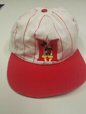Vintage Mickey Mouse Elastic Back Baseball Youth Cap - Red & White Hat