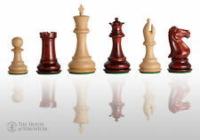 "The Collector II Luxury Chess Set - Pieces Only - 4.0"" King - Blood Rosewood"