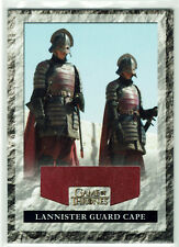 Game of Thrones Season 2 Relic Costume Card RLG2 Lannister Guard Cape #106/475