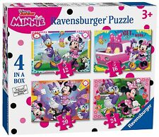 NEW! Ravensburger Minnie Mouse Superstar Helpers 4 in a box jigsaw puzzles 3+