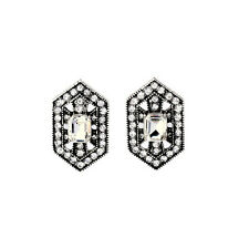 NEW Urban Anthropolo​​gie Rayani Pologon Shaped Rhinestone Evening Earrings