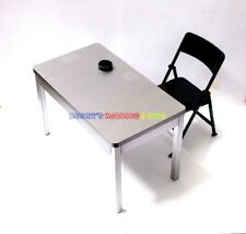 """New 1/6 Scale Furniture Table & Black Chair For Barbie Doll & 12"""" Action Figures"""