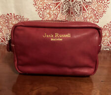 Jack Russell Malletier Paris Red Leather Travel Pouch/Pocket - Rare