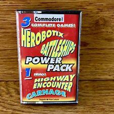 Commodore 64 128 Juegos 3 en 1 + una demostración herobotix acorazados autopista encuentro