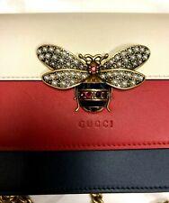 GUCCI Mini Bee Multi Stripe Leather Shoulder Bag