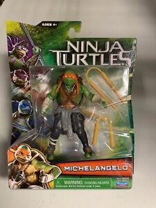TEENAGE MUTANT NINJA TURTLES 2014 Michelangelo Action Figure - NEW ON CARD