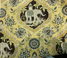 4 Drapes Mill Creek Elephant Toile Curtains, fully lined. Maize or Persimmon