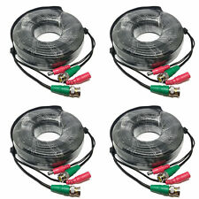 Lot of 4 New Swann 60Ft Coaxial Bnc Power Video Cable for Hd-Sdi Security Camera