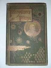 Complete Poetical Works Of Alfred Lord Tennyson 1884 Illustrated RARE Antique