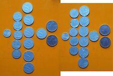 Repubblica Italiana 1955 lotto di 15 monete: 5 Lire + 10 + 50 + 1