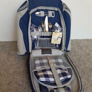 Vintage Retro Genuine Concept International Picnic Backpack Set For 2 Never Used