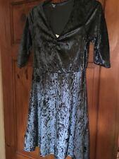 Ladies atmosphere blue velour dress size 10 BNWT
