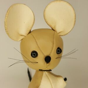 "Dakin Vintage Dream Pets Leather Pets Tan Leather 6"" Morty Mouse"