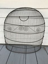 Awesome Federal Antique C. 1810 Fireplace Fire Wire Clipped Screen Pretty Fender