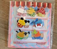 New Disney Parks Character Cupcake 7-Pin Booster Pack Set Mickey Minnie Tink