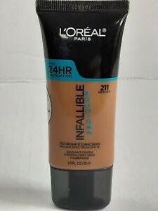 24HR LOREAL INFALLIBLE PRO GLOW FOUNDATION CREME CAFE 211 NORMAL TO DRY