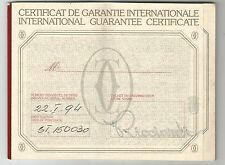 STYLOS CARTIER 90's International Guarantee Certificate Le Must de CARTIER