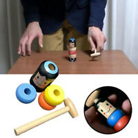 1set Immortal Daruma Unbreakable Wooden Man Magic Toy Fun Toy Accessory UK~KR